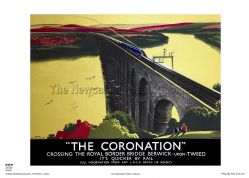 The Coronation - Berwick - Railway & Travel Poster